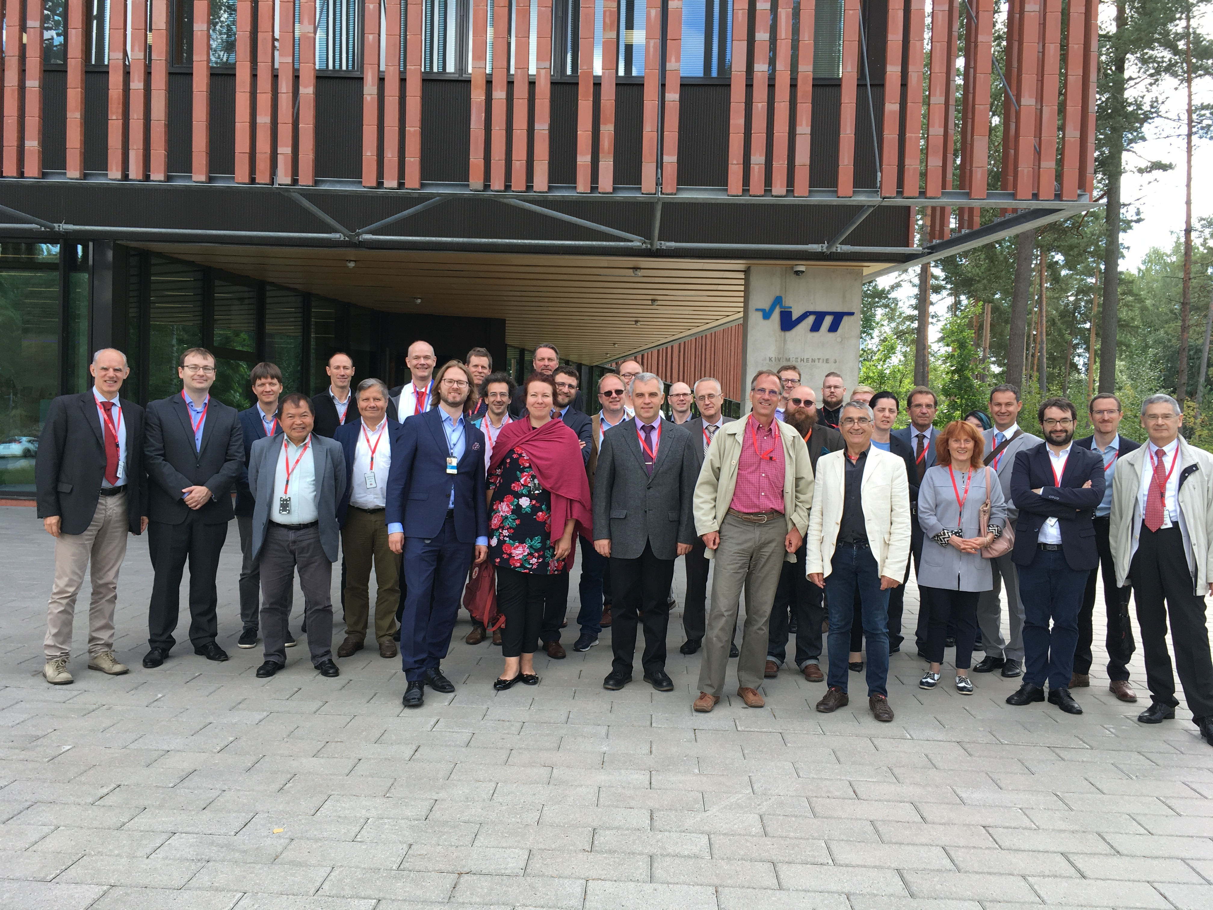 ELSMOR kick-off participants in front of VTT Centre for Nuclear Safety in September 2019. (© VTT)